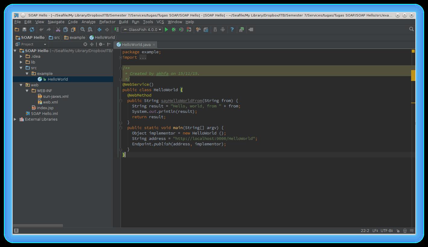 Helloworld Source code
